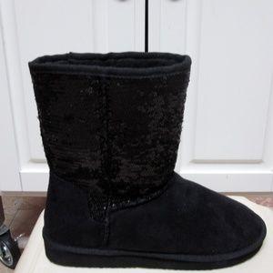 NEW WOMEN'S SODA BLING-S SEQUIN FASHION boot-black